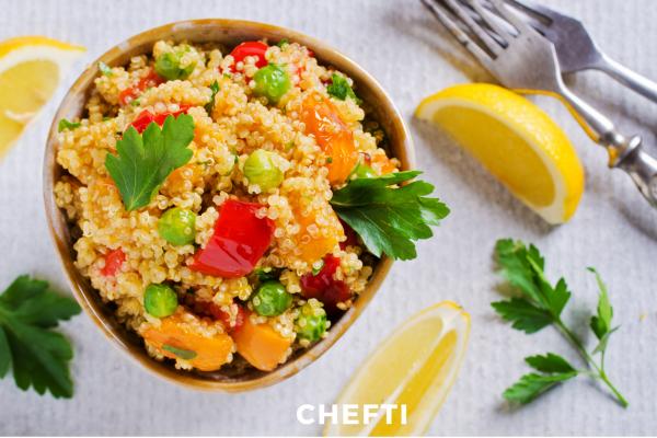 Quinoa aux légumes, livraison de repas fait maison à domicile et au bureau en Martinique