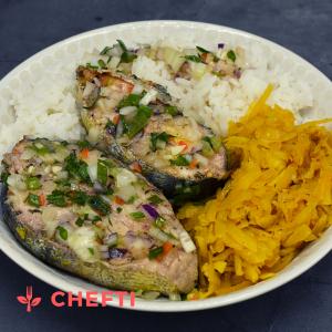 Daurade en blaff, repas livré en Martinique, commande en ligne et livraison