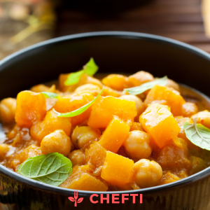 Curry de giraumon, livré en Martinique, repas à emporter ou livré