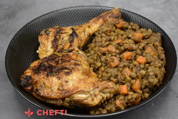 Poulet et lentilles à la marocaine, commandez vos repas et faites vous livrer chez vous