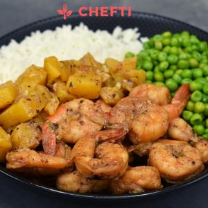Crevettes à l'ananas, commandez votre repas en Martinique pour la semaine et faites vous livrez chez à domicile, restaurant