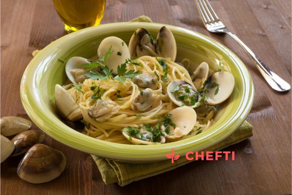 Spaghetti aux palourdes, commander sur notre site et faites vous livrer