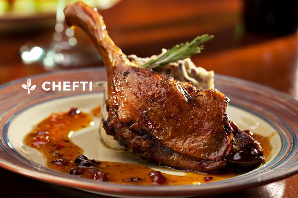 Cuisse de canard confite à l'ananas, commandez votre repas sur notre site internet CHEFTI.FR et faites vous livrer chez vous en Martinique