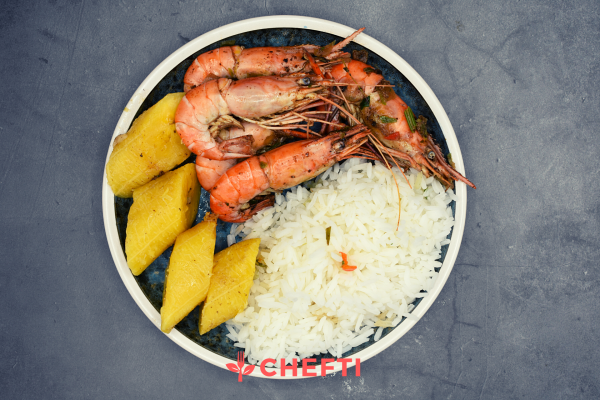 Fricassée de ouassous, repas frais livrés en Martinique à domicile ou au bureau